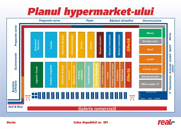 plan magazin real bacau