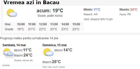Vremea Bacau - YouTube  |Meteo Bacau